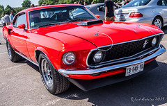 automobile, automotive exterior, vehicle, first generation ford mustang, boss 429, bumper, antique car, sedan, classic car, land vehicle, luxury vehicle, muscle car,