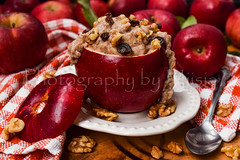 Apple Pie Oatmeal Still Life