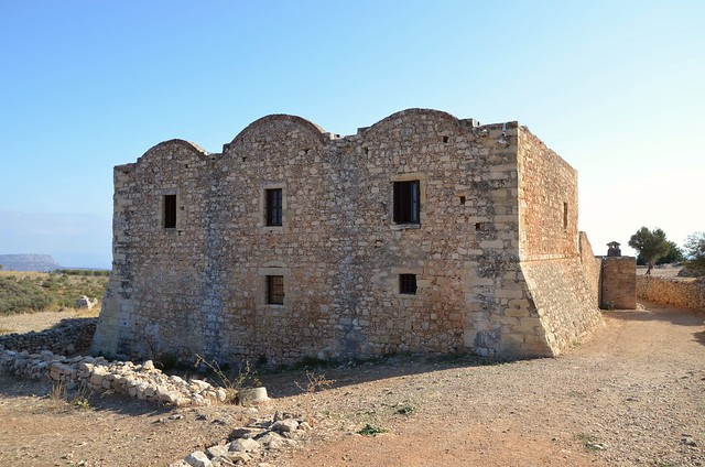 The monastery of Agios Ioannis Theologos, it was built during the 12th century and was in function until 1964, Aptera, Crete