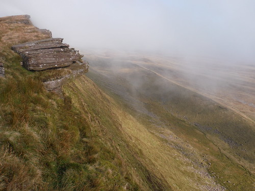 Fan Fechan Moraine at bottom of Fan Hir Escarpment