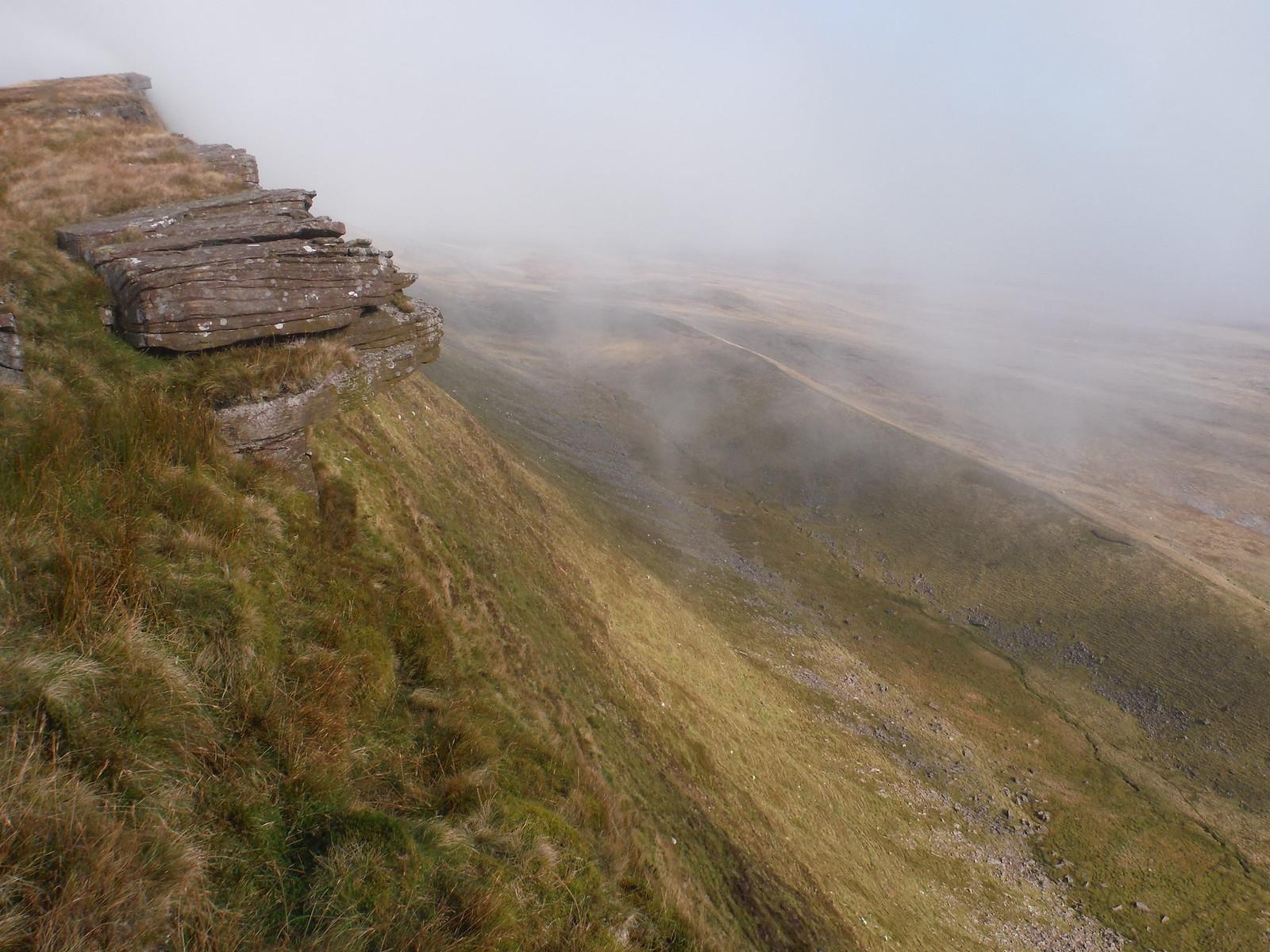 Fan Fechan Moraine at bottom of Fan Hir Escarpment SWC Walk 86 Fan Brycheiniog and Fan Foel (The Black Mountain)