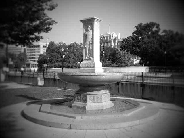 Butt-Millet Memorial Fountain on the Ellipse