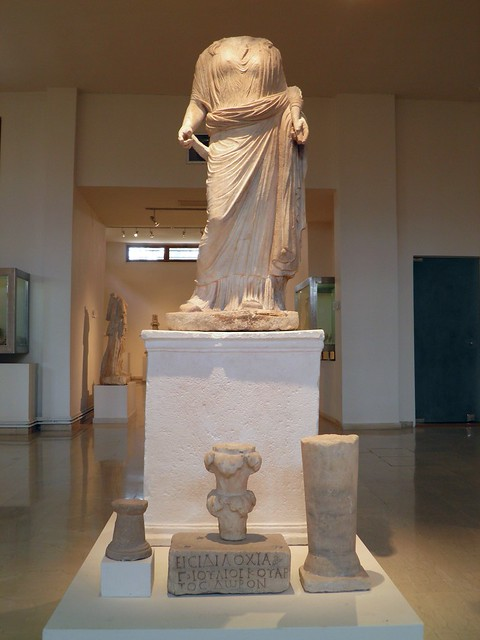 Cult statue of Isis Tyche and marble votives offerings, 2nd c. AD, Archaeological Museum, Dion