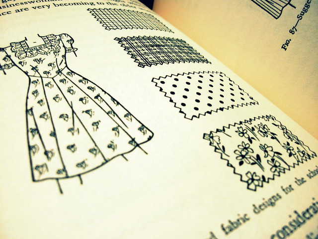 Retro 1950 sewing book