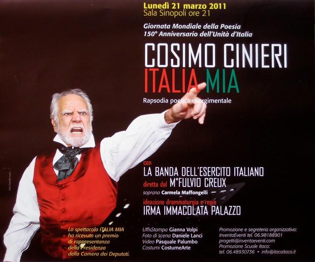 ITALIA MIA con Cosimo Cinieri 2011