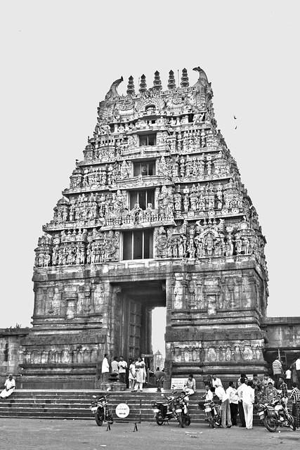 The Gopuram at Belur, Karnataka, India