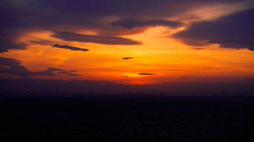 Sunset at Tokyo Bay