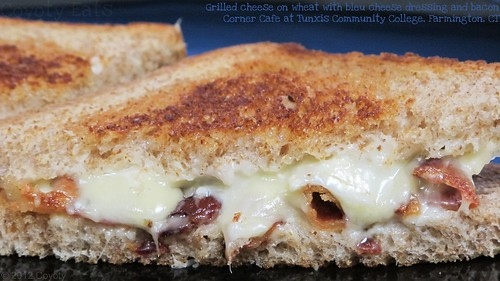 Grilled cheese on wheat with bleu cheese dressing and bacon by Coyoty