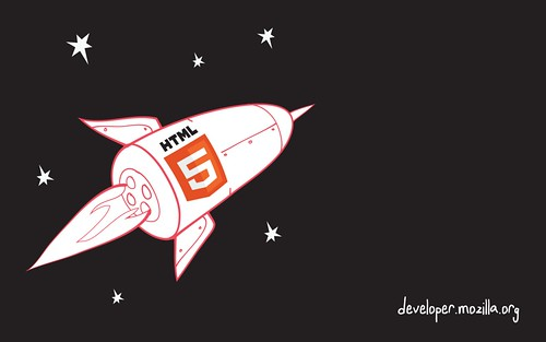 HTML5 gaming rocket wallpaper