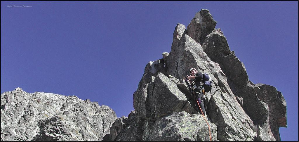 escalando piton von martin al pico palas 2974 m