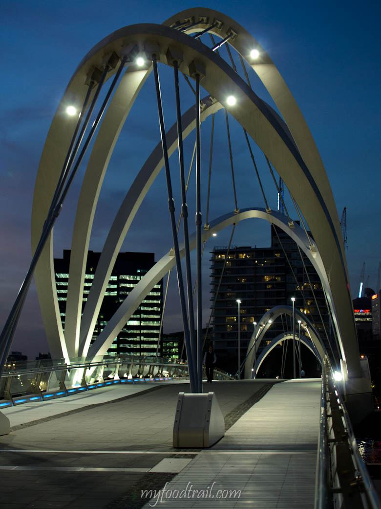 South Wharf - Seafarers Bridge at night