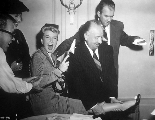 James Stewart, Doris Day with Hitchcock - between the scenes fun