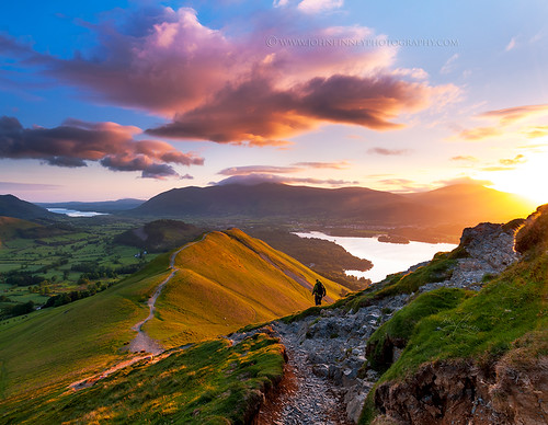 Catbells sunrise, Lake District.