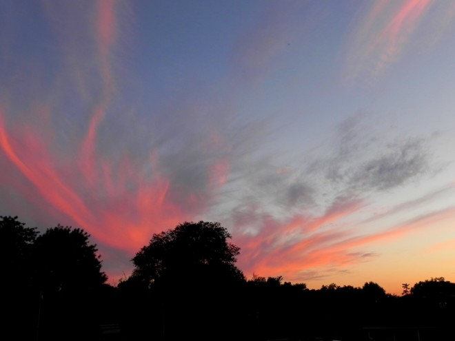 06-07-2012_Wispy clouds at sunset in the Ozarks