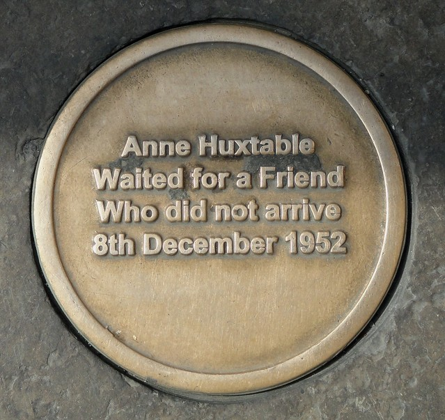 Photo of Anne Huxtable bronze plaque