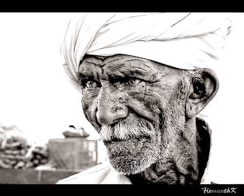 Rajasthani old man