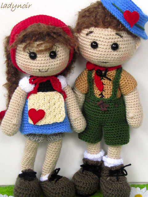 Free Crochet Patterns For Boy Toys : Crocheted Boy and Girl Flickr - Photo Sharing!