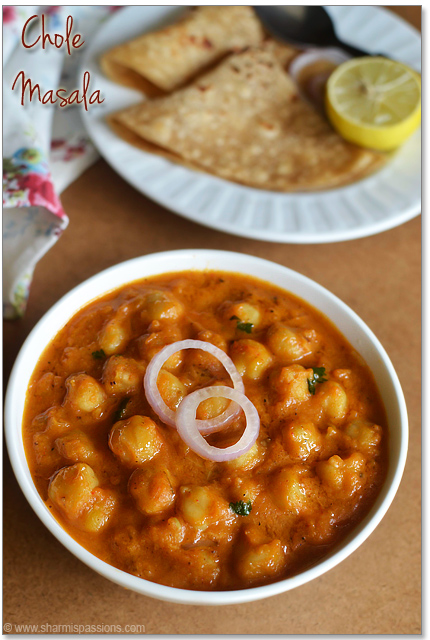 Chana Masala Recipe - Easy Chole Masala (without coconut) - Sharmis ...