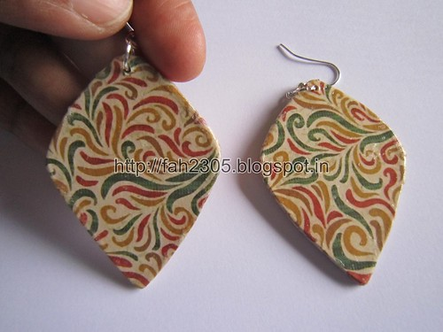 Handmade Jewelry - Card Paper Earrings  (Album 3) (12) by fah2305