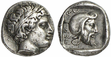 Pergamum. Gongylos. Diobol, around 420