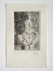 """Three of Swords"" limited edition intaglio print"