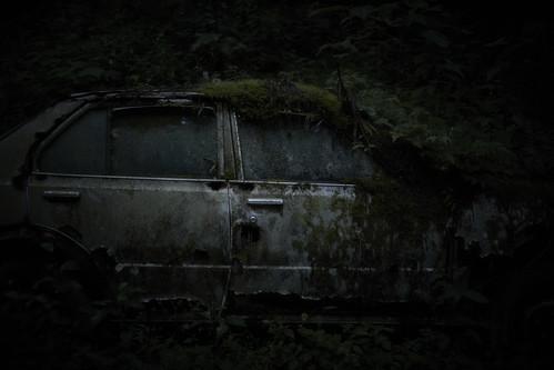 old car.