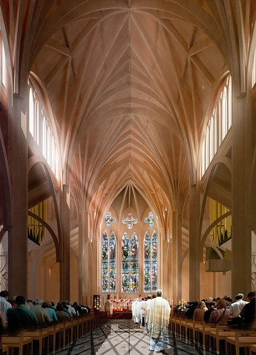 Christchurch Cathedral option 2 aisle
