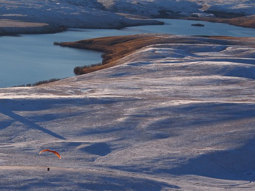 Paraglider and Lake Alexandrina