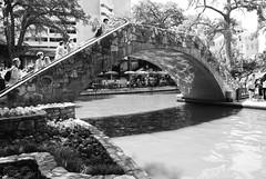 Pedestrian Bridge over San Antonio River, San Antonio, Texas 1306021526BW