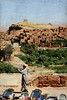 Snake Charmer with Ait Benhaddou backdrop