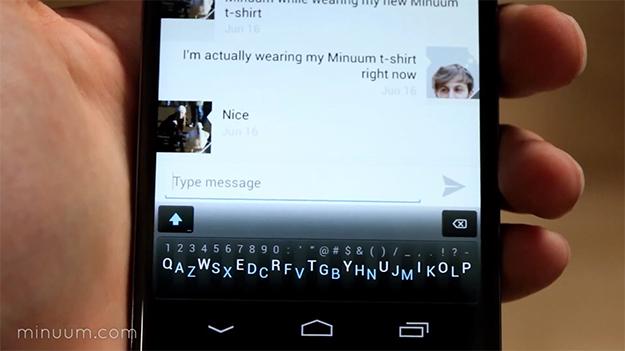 minuum, teclado para Android