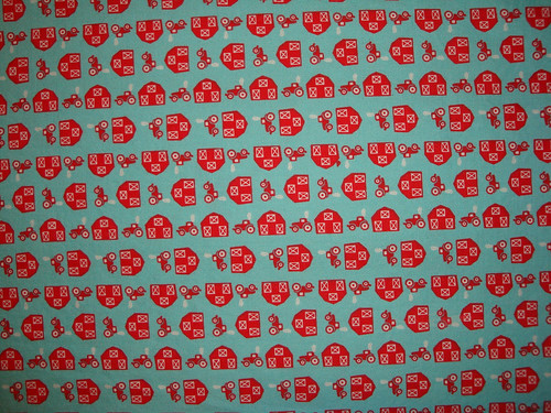 Barns and Tractors Fabric