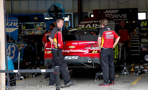 Working on the cars on Sunday Morning