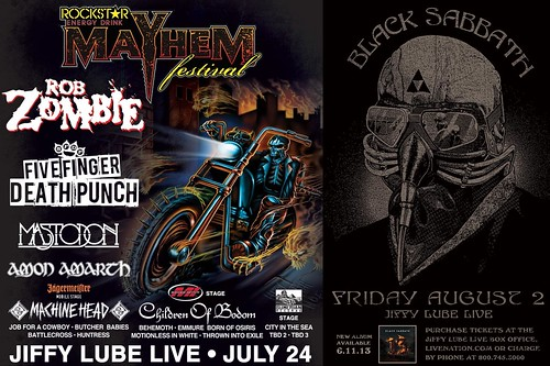 Mayhem Fest and Black Sabbath