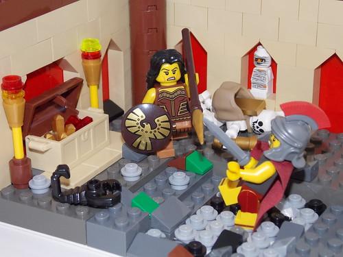 LEGO - Cena de batalha