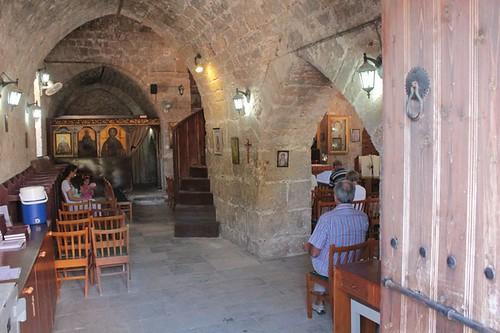 Paphos: interno del Monastero di Chrysorrogiatissa