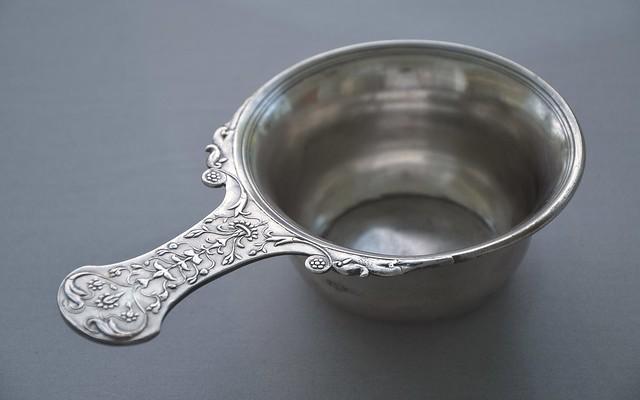 Small silver saucepan, Roman silverware, Museum het Valkhof, Nijmegen (Netherlands)