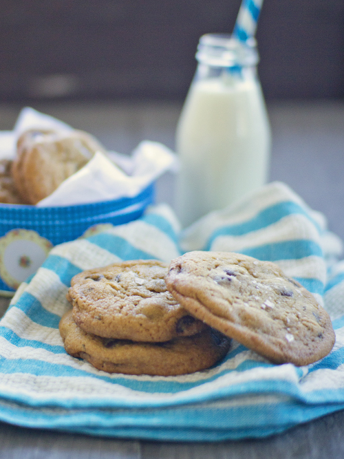 rosemary, choc chip & sea salt cookies