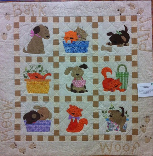 Furry Sweetness~Quilt by Kathy Urban