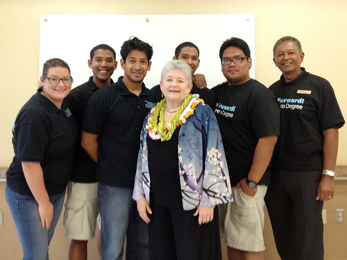 UH President Greenwood's final visit to Leeward CC