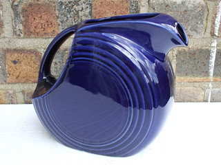 Fiesta Ware USA Disc Pitcher In Dark Blue UK Car Boot Sale Find Summer 2012