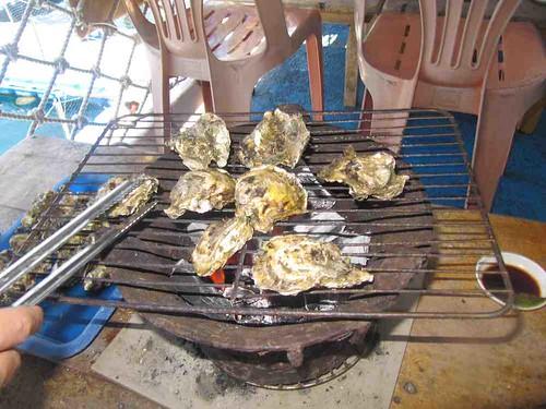10-2013澎湖-海洋牧場-烤牡蠣