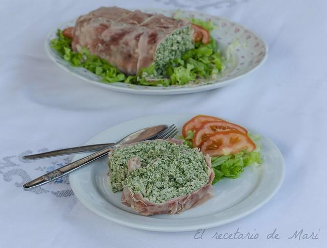 pastel de pollo y espinacas-1