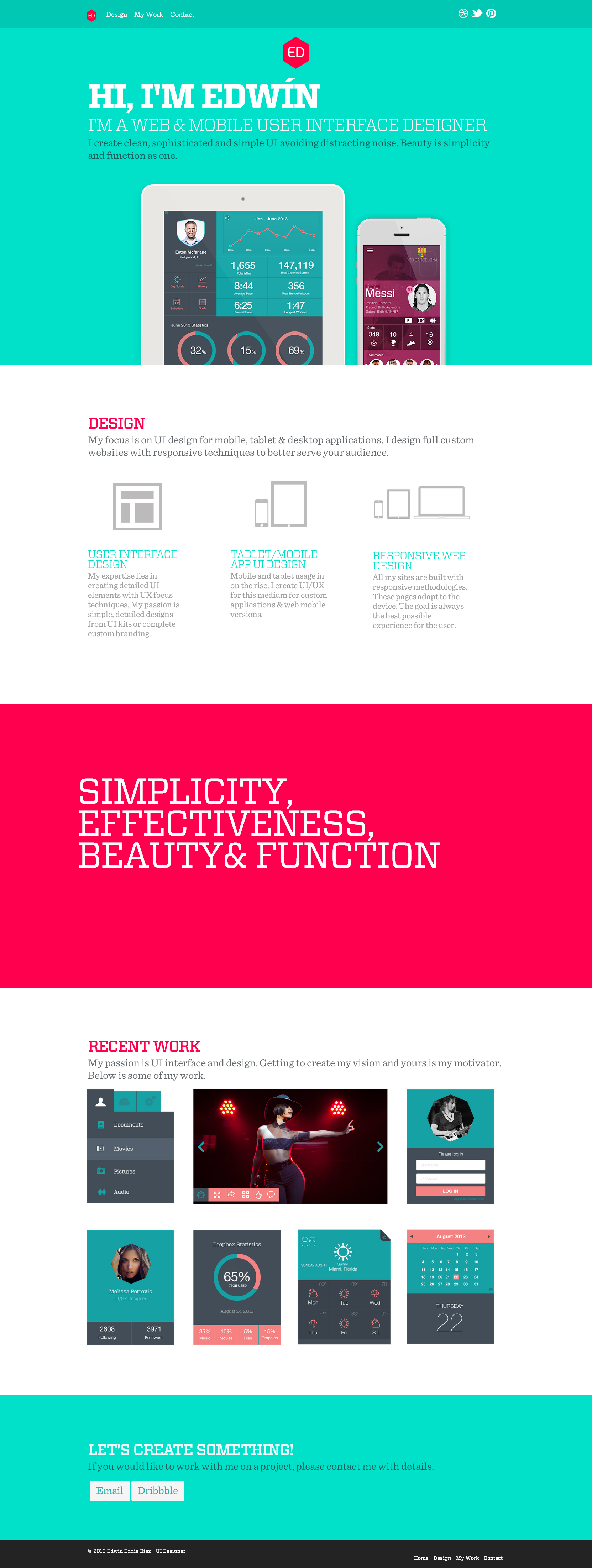 Edwin Eddie Diaz - Clean Website for Your Inspiration