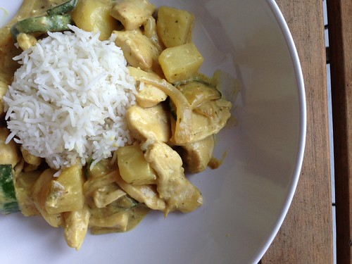 Thai green curry chicken2