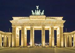 Brandenburger Tor in der Nacht