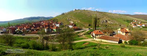 panorama green rural hill serbia u kosovo selo gjilan srbija brdo gnjilane kmetovce kmetovc kmetoc