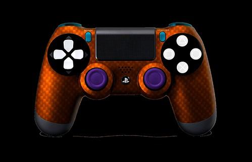 PS4Controller-OrangeSilverCarbonFiber