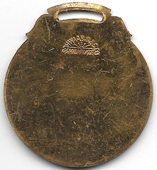 gilt brass watch fob from Royersford, PA reverse