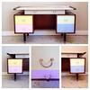 More bright colours & vintage furniture / #gplan #desk #vintage #frenchfinds